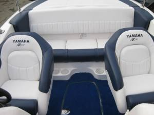 Yamaha two tone boat upholstery seats and carpet